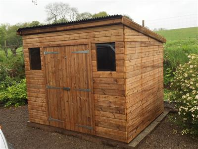 9x7 Pent-C Beast wood Garden shed