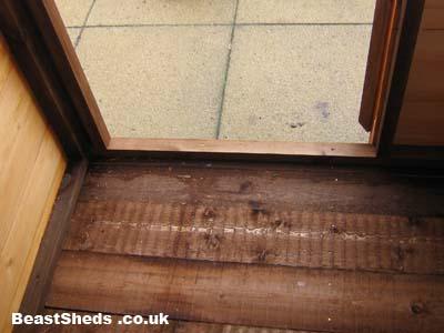 shed doorway framework